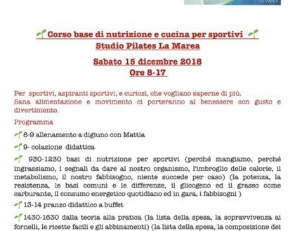 Sport e alimentazione: appuntamento imperdibile sabato a Tortolì!